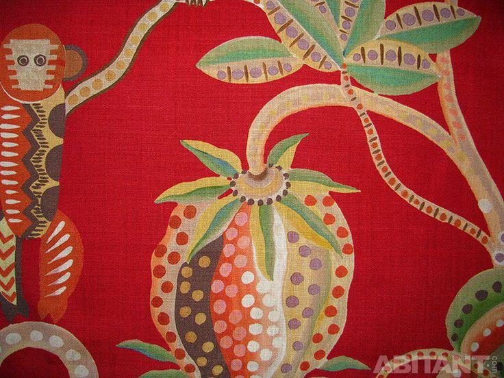 Красная ткань с рисунком