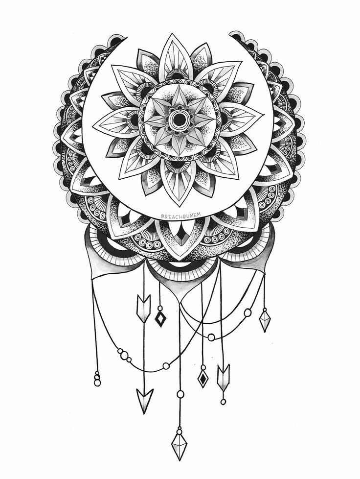 25 Best Ideas About Shoulder Cap Tattoo On Pinterest Sun Moon Mandala Coloring