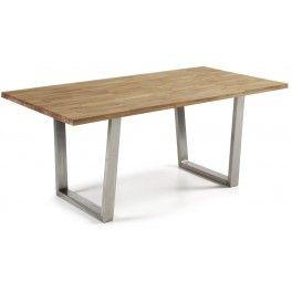 TABLE 200 fisso tavolo piano in legno di rovere base acciaio inox satinato sala…