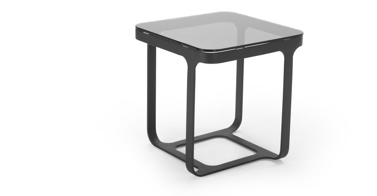 £149 Arwin Side Table, Black and Grey | made.com