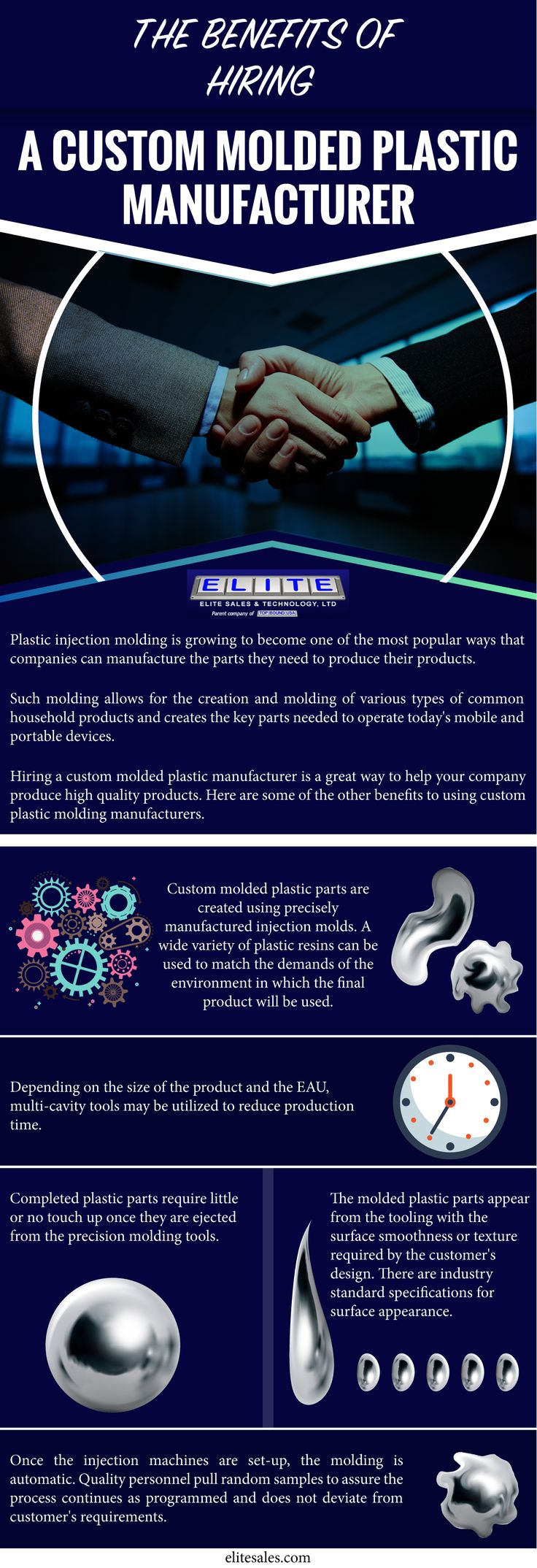 If you're looking for the best way to lower your manufacturing and product costs, the best solution for you is to hire a custom molded plastic manufacturer. These manufacturing facilities and experts are capable of making your plastic products cost effective and labor efficient.