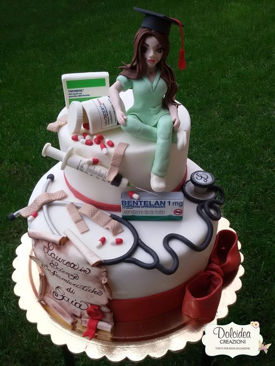 25 Cute and Creative Cakes for Nurses #nursebuff #nurses #cakes