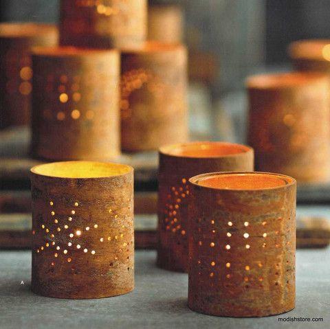 Roost Cinnamon Bark Tealight Holders S3