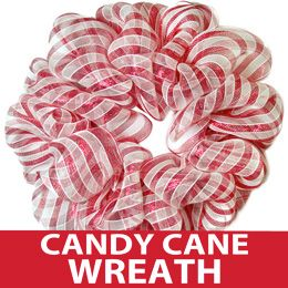 Easy Wire Wreath Form Tutorial: Candy Cane Stripe: Mesh Wreath Tutorial, Gras Outlet, Candy Canes, Deco Mesh Wreaths, Party Ideas