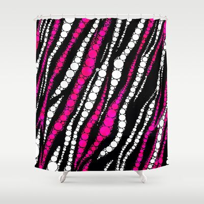 Hot pink zebra print pattern shower curtain by ocdesigns 68 00
