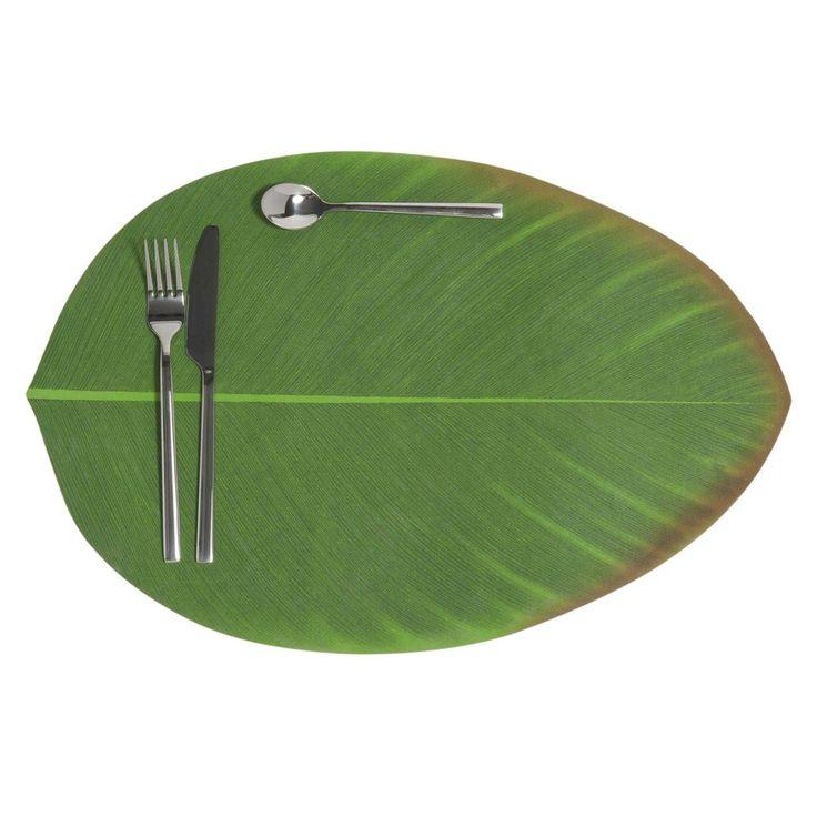 BANANIER green leaf place mat 31 x 47 cm