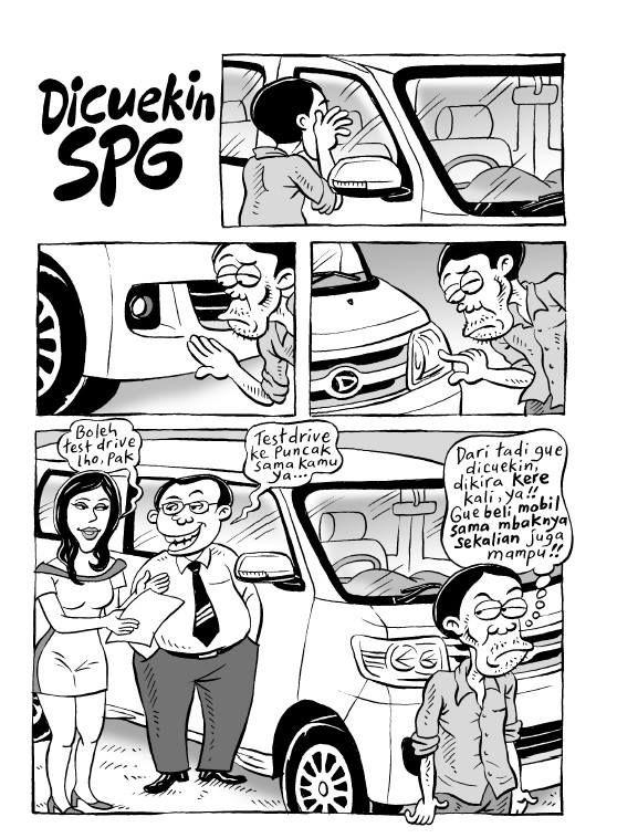Kartun Benny, 100 Peristiwa Yang Bisa Menimpa Anda: Dicuekin SPG