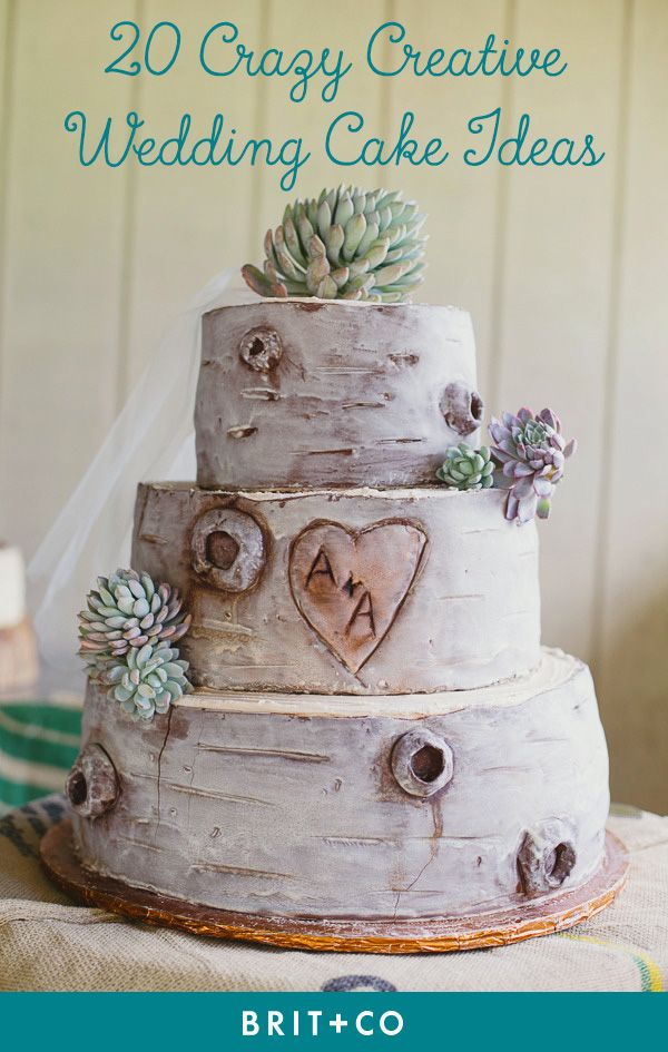 Get wedding cake inspo from these crazy creative ideas.