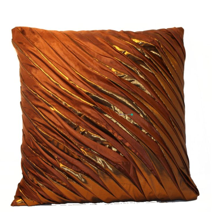 Sense the feeling of luxury and elegance, with this cushion cover which is an ideal choice for your home decor.The color combination of brown with golden soft tissue finish will blend well with any color lounge. The product has a feel of silk touch which adds the elegance and classy look to your home. FEATURES :   16 Inch * 16 Inch / 40.5 cm *  40.5 cm