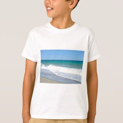 #Sandy beach and Mediterranean sea T-Shirt - #cool #kids #shirts #child #children #toddler #toddlers #kidsfashion