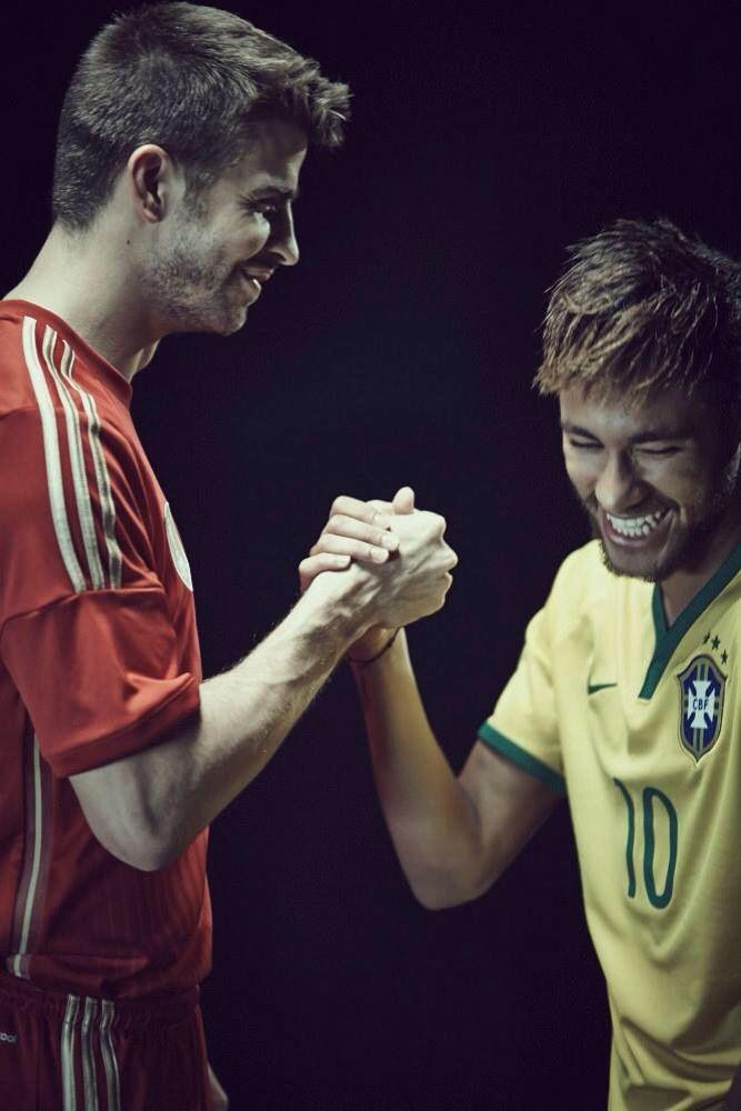 Pique and Neymar