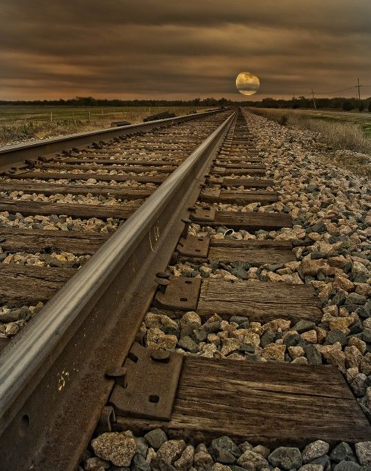 Moon by Train.