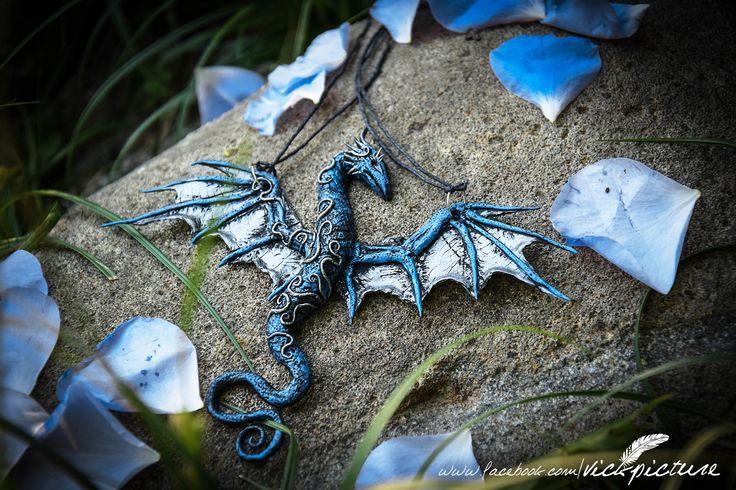 Navara dragon pendant. Made from polymer clay. Fully handmade. https://www.facebook.com/vickpicture