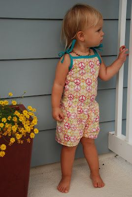 Toddler Jumpsuit Tutorial - Love this.