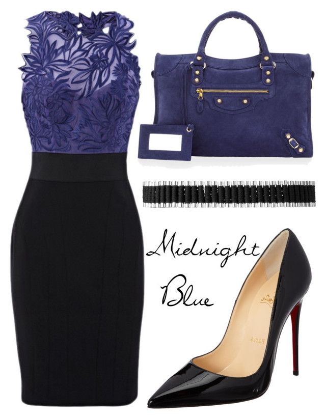Midnight Blue by missloulouxx on Polyvore featuring polyvore, fashion, style, Christian Louboutin, Balenciaga, Links of London and clothing