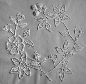 Supplies pack for Snow White Mountmellick tablecloth « White Threads