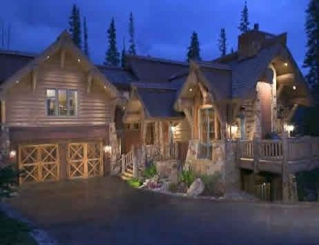 17 best images about log cabins on pinterest home for Luxury log cabin builders