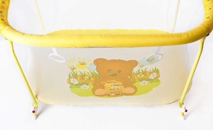 Манеж детский прямоугольный Мишка и мёд