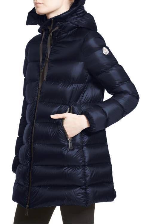 MONCLER Down Jackets best seller MONCLER Suyen Down Puffer Coat sleeves logo