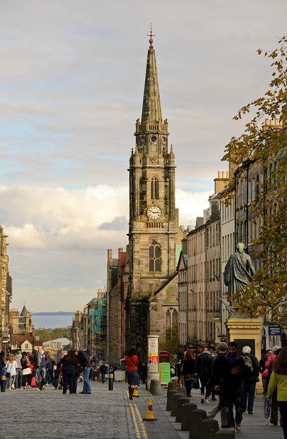Royal Mile, Edinburgh, Scotland  My heart beats outside my chest.  Edinburgh, my home sweet home