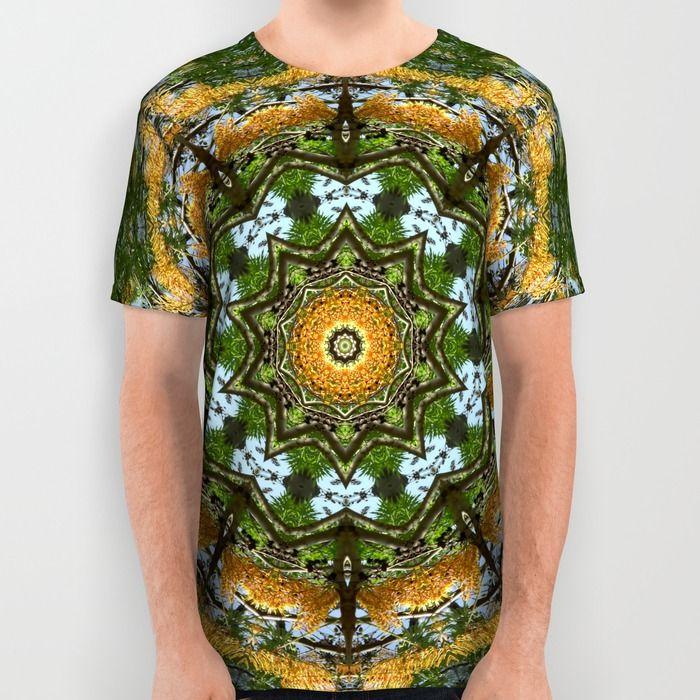 Kaleidoscope Trees Printed T-Shirt Aead7X7