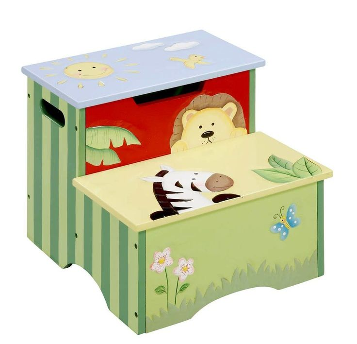Sunny Safari Storage Step Stool By Teamson At LuxuryLamb. Shop For Sunny  Safari Storage Step Stool From Play Time / Kids Step Stools Collection At  ...