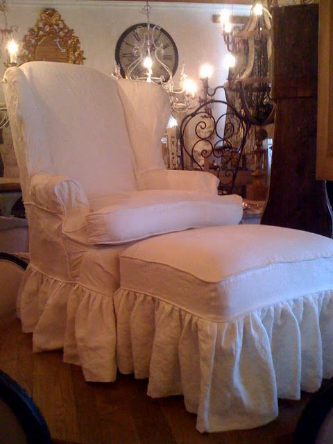 Shabby chic chair and ottoman chair love pinterest