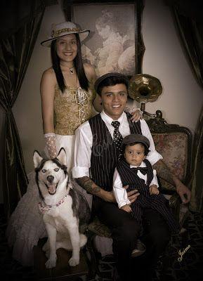 Guau, qué elegante familia