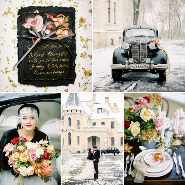 Snowy & Floral-Filled Vintage Winter Wedding Inspiration