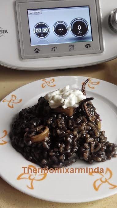 Recetas para tu Thermomix - desde Canarias: Arroz negro con calamares