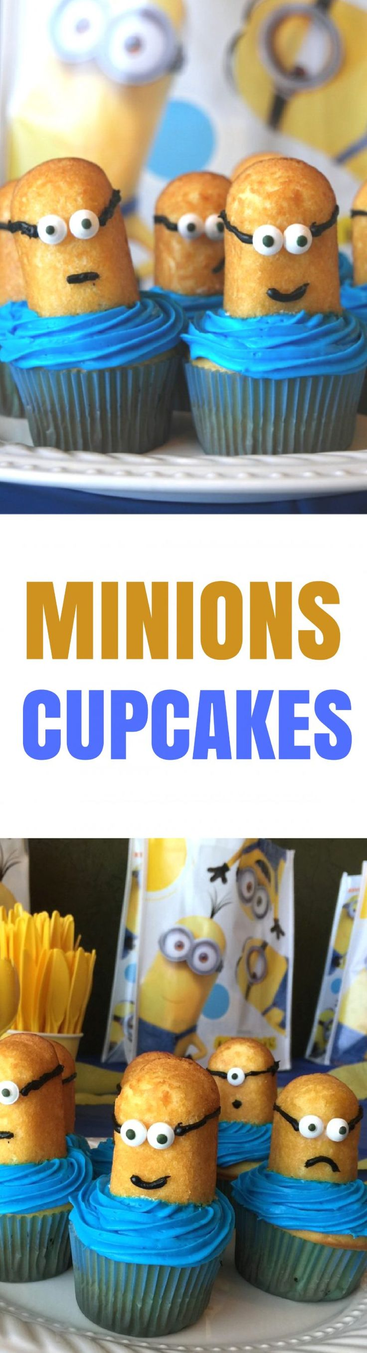 How to Make Despicable Me Minions Movie Party Cupcakes   Do your kids love the Minions as much as mine do? Actually, our whole family can't get enough of these silly little yellow dudes, and we're so excited to see Despicable Me on June 30th in theaters!