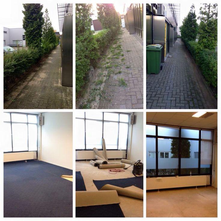 Tapijt verwijdering & muren schilderen + eindschoonmaak kantoor Breda