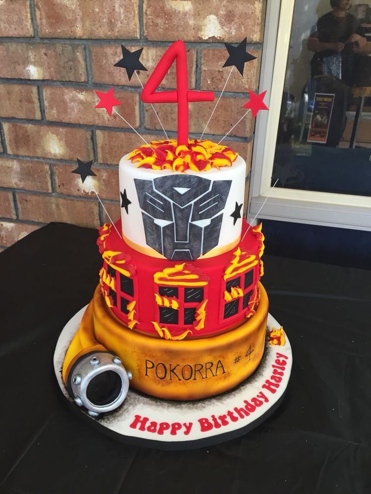CFS fan mainly but now starting to love transformers! Here's how I combines the 2 in this fiery cake :)