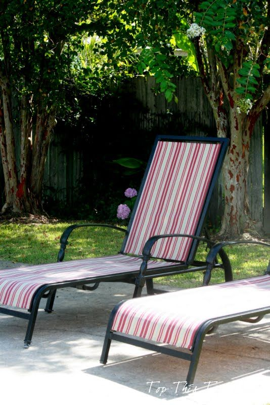 Refurbish Your Old Chaise Lounge Chairs From Top This Top