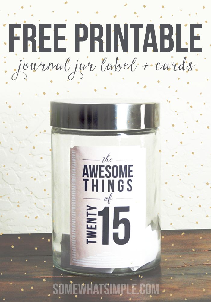 journal jar free printable ideas for things to record in your journal for 2015