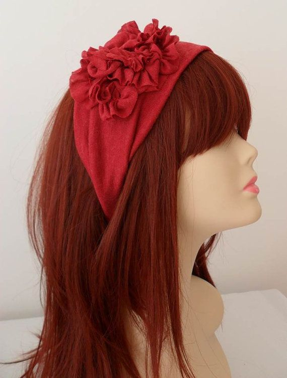 ON SALE Burgundy Headband Womens Fashion by JasmineAccessory, $13.90