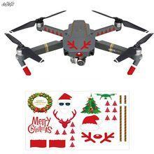 Universal Drone Stickers Christmas Sticker DIY Kit For DJI Mavic pro spark Phantom 2 3 4 4PRO Drone Decorations Spare parts #camera #photo #actioncamera #dlsr #cameraphone