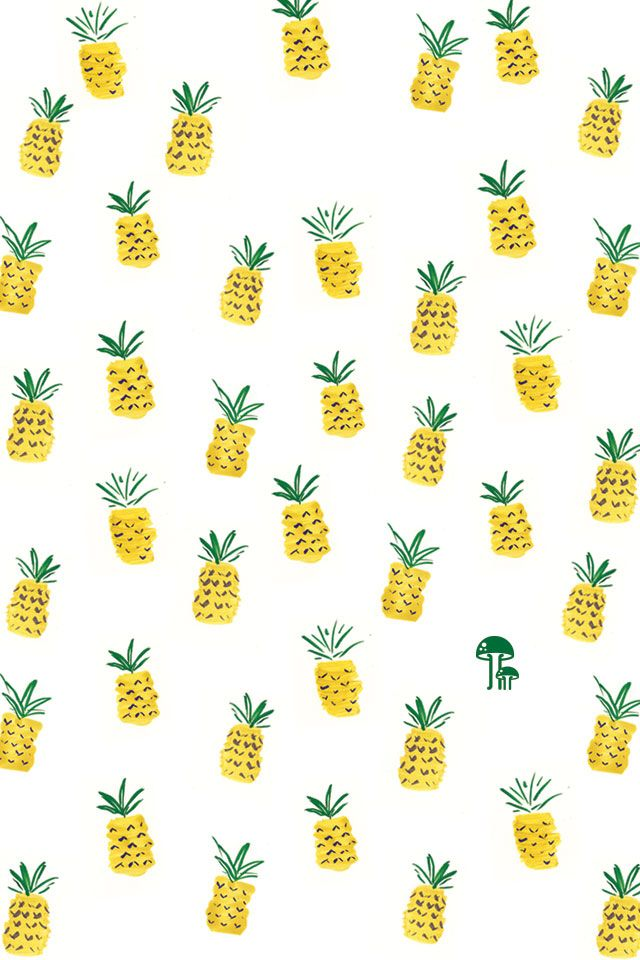 pinapple iPhone wallpaper  from mod cloth blog.