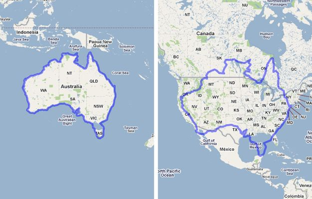 One Big Island! | 17 Maps Of Australia That Will Make Your Mind Boggle