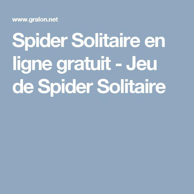 Spider Solitaire en ligne gratuit - Jeu de Spider Solitaire