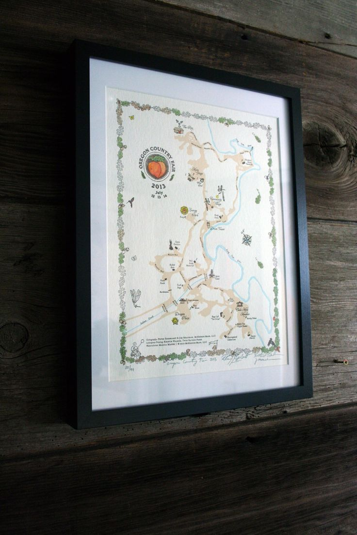 Map Of Oregon State Fairgrounds%0A Limited Edition Letterpress Art Print    Oregon Country Fair         Map by  twinravenspress