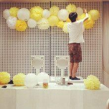 ポンポンの飾り方|nico◡̈*blog 手作り結婚式
