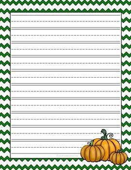 FREE! Fall Lined Writing Paper! Large lines...perfect for young writers!