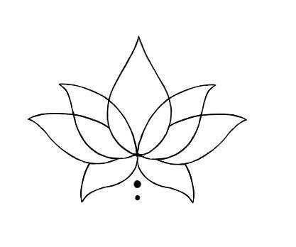 Lotus simple, je ne suis pas sûr d'aimer autant les feuilles de duvet …   – Flower Tattoo Designs
