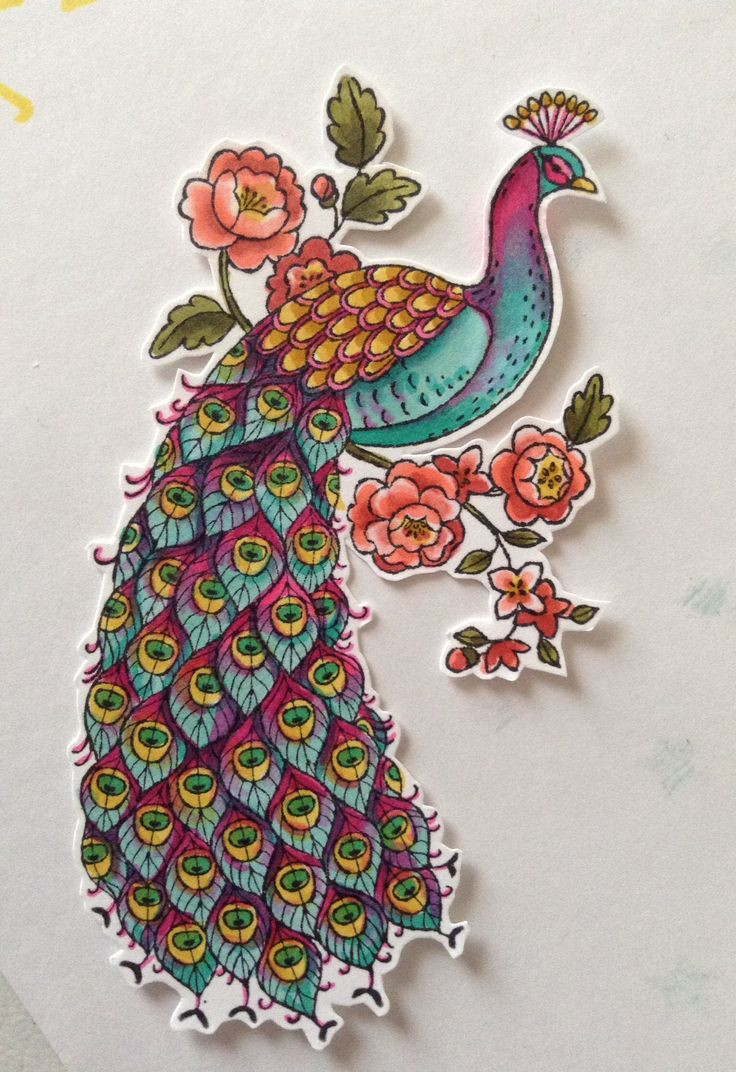 Stampin' Up! Blendabilities peacock
