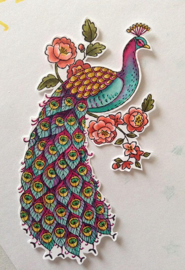 Stampin' Up! Blendabilities peacock