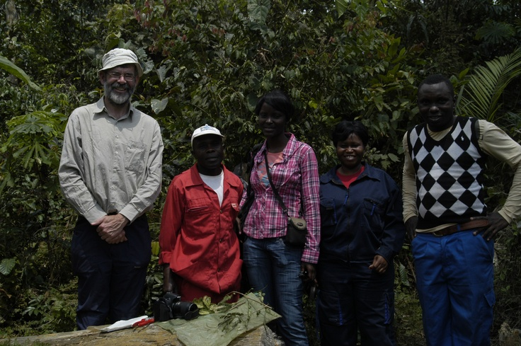 Some of the team on the ground working on tracking down and trailing potential alley cropping species.