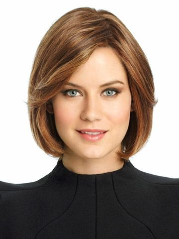 Style Lace Front Straight Chin Length Remy Human Lace Wigs, Lace Frontal