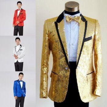 Paillette maschio master 2014 paillettes abiti costumi di scena vestito degli uomini mc abbigliamento ospite cantante abiti & blazer mostra giacca della tuta sportiva