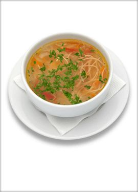Romanian chicken and noodle soup - at the start of every meal!